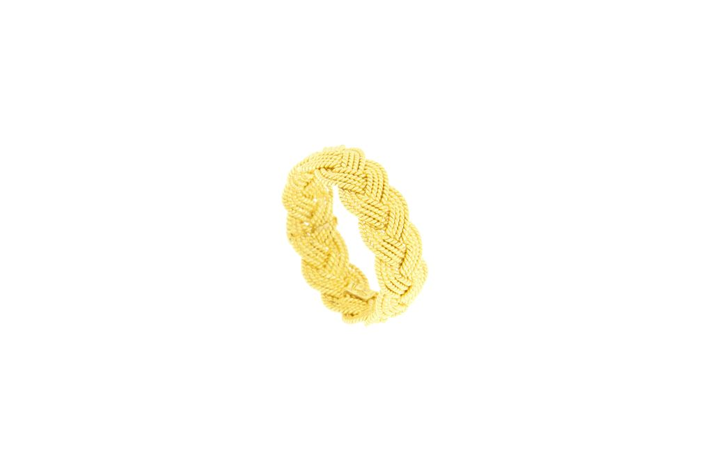 Gold  band ring in gold sardinian filigree