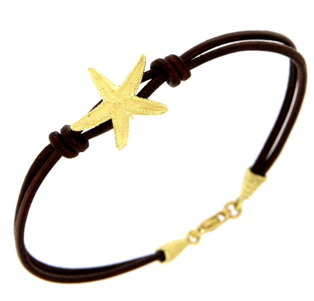 Bracelet with gold starfish