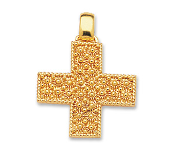 Gold cross pendant pendants rr orafi in sassari gold cross pendant mozeypictures Image collections