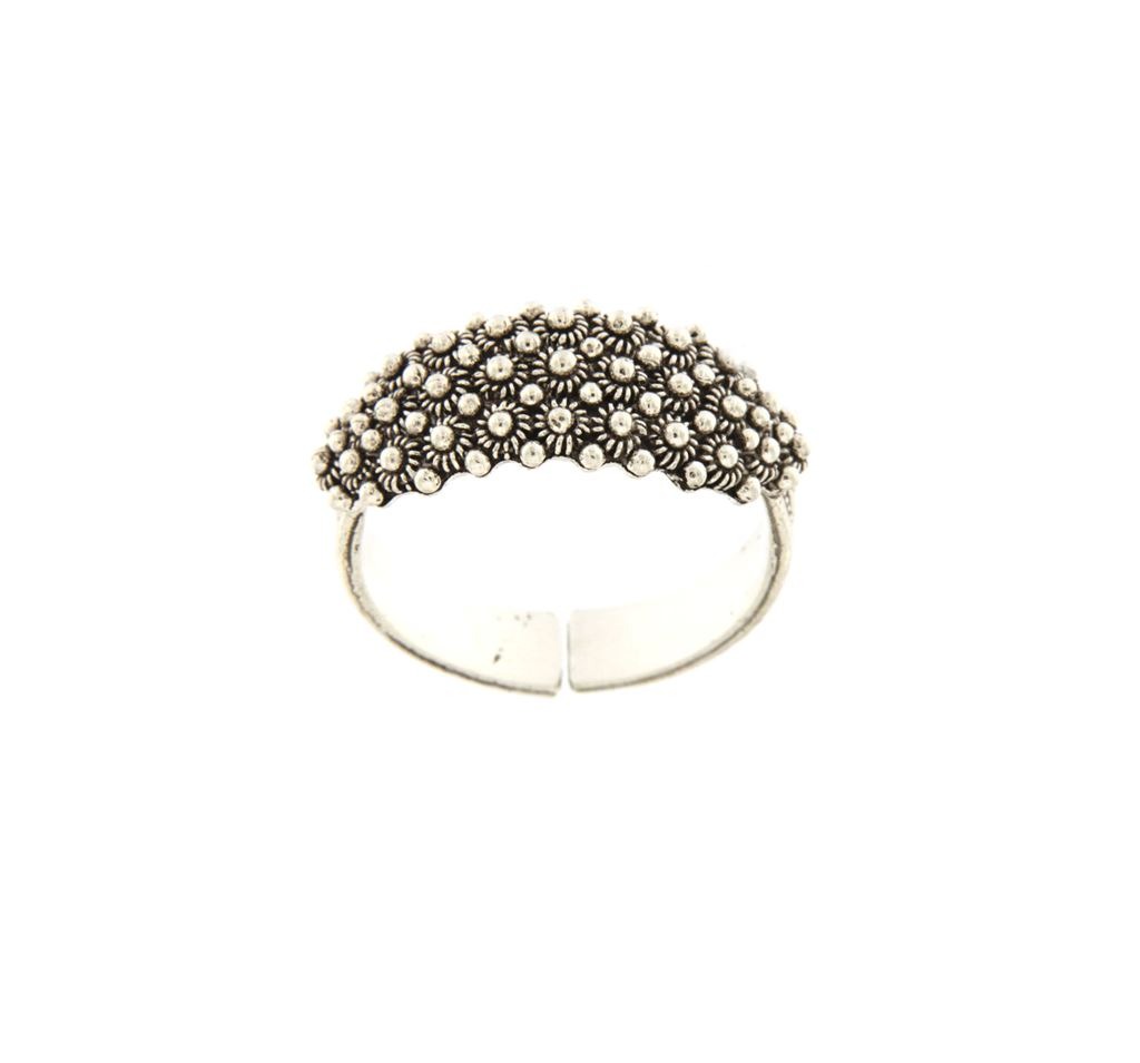 Sardinian silver wedding ring