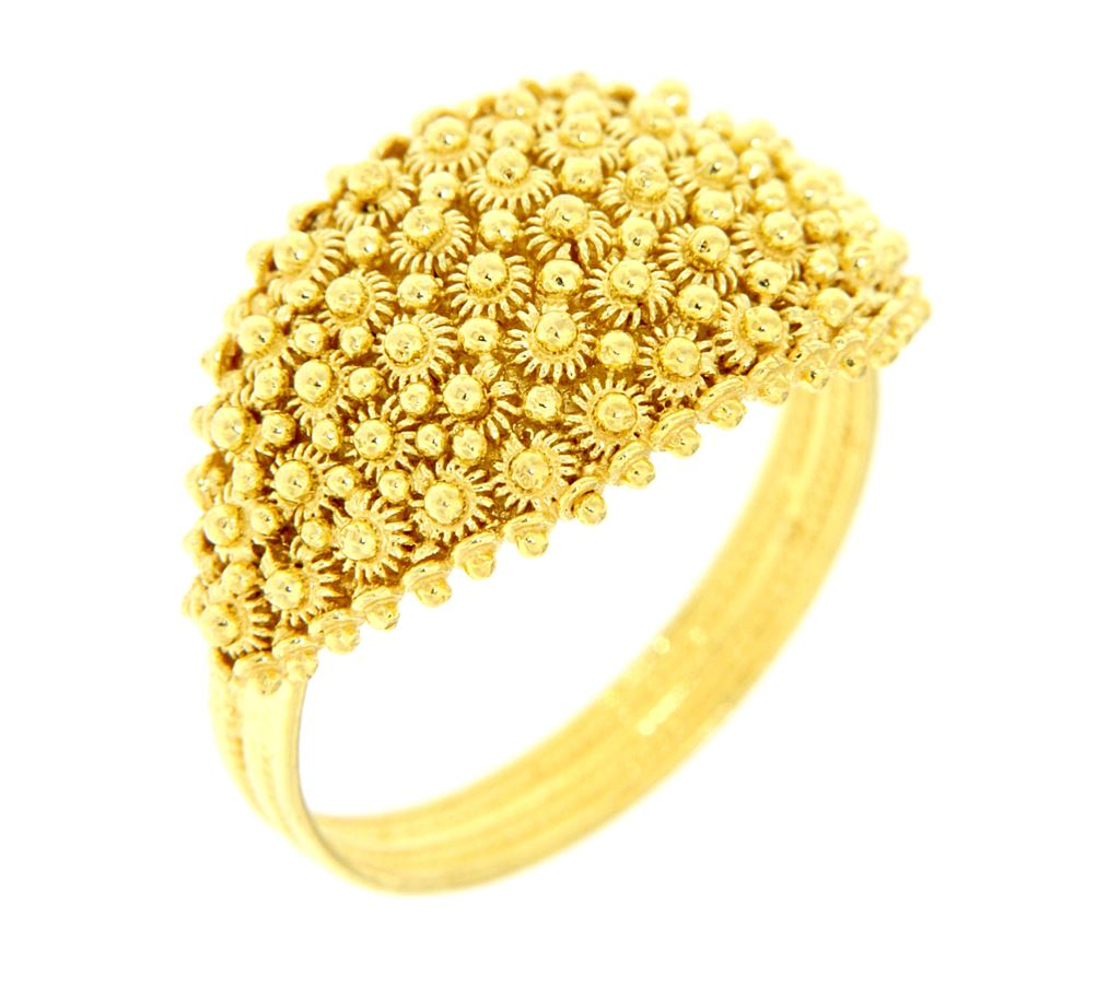 Gold ring ´Sardinian wedding ring´ in gold sardinian filigree