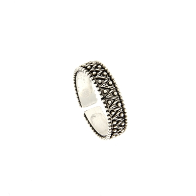 Silver filigree ring Pibiones