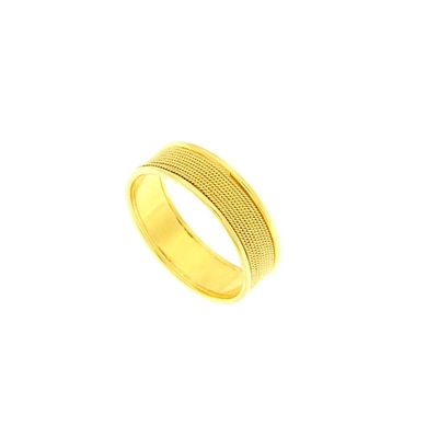 Gold band filigree ring