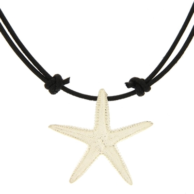 Silver starfish-shaped pendant