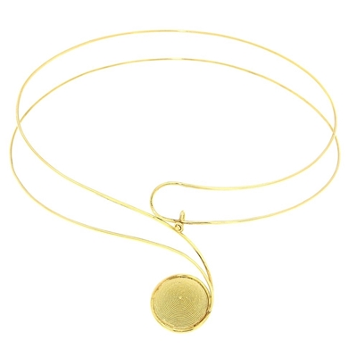 Gold neckwire